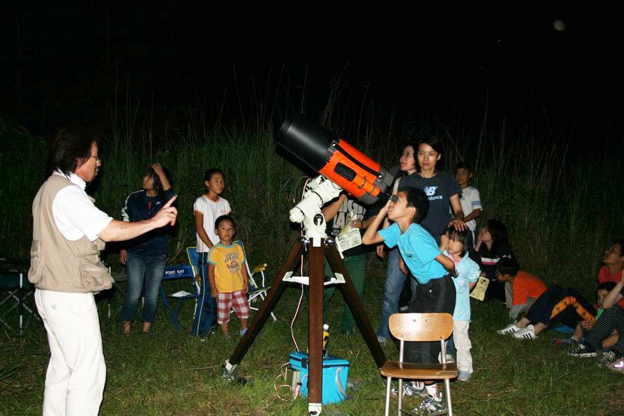 ウッドペッカーキャンプ場「星を見る会」