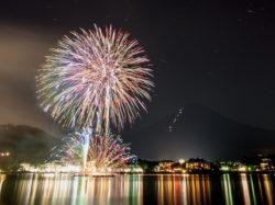河口湖 湖上祭
