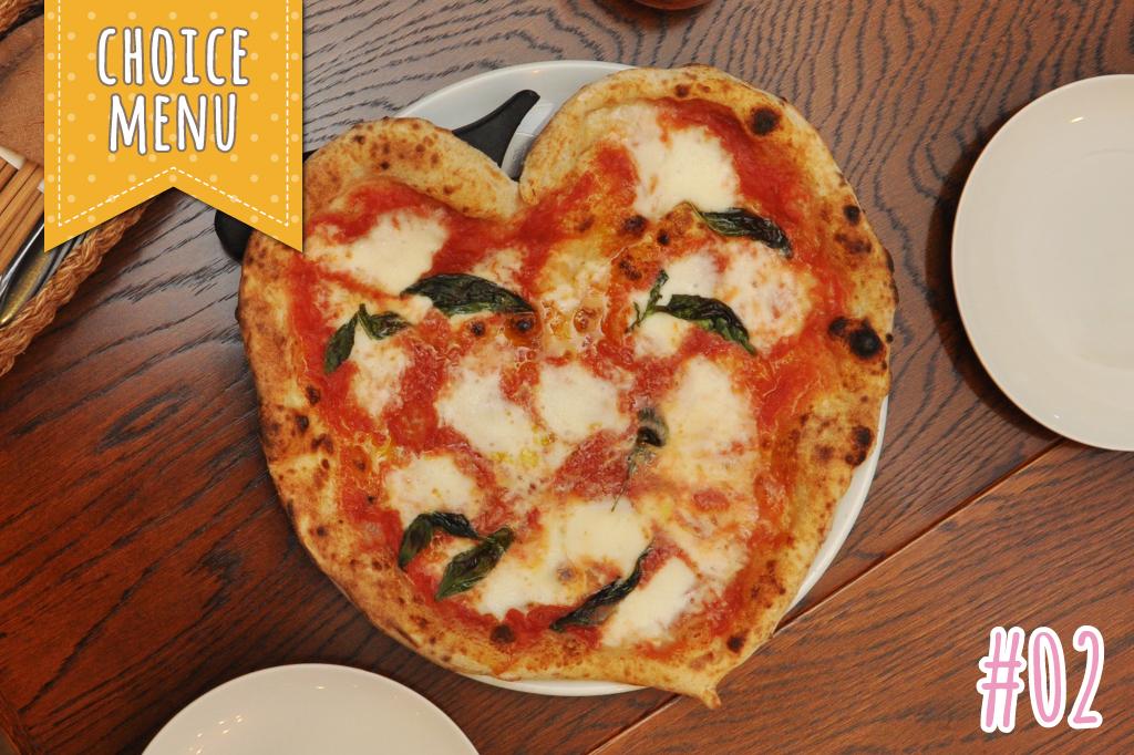 田舎カフェオーチャードのハートピザ