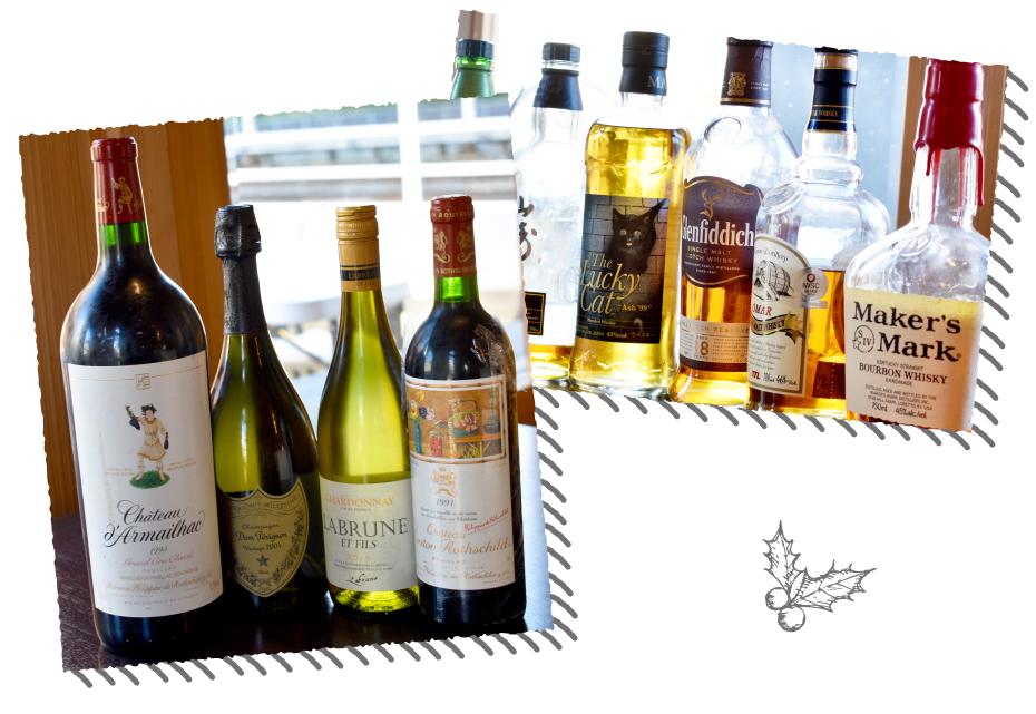 エヌイッシンのワインやウイスキー