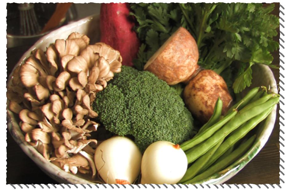 天麩羅ウレガの野菜