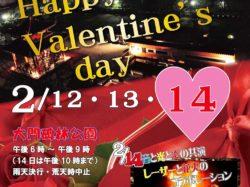 バレンタイン特別企画 ライトアップ&イルミネーション