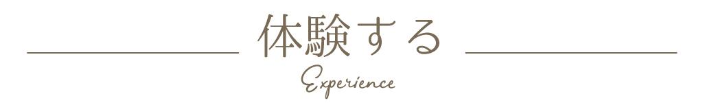 体験する experience