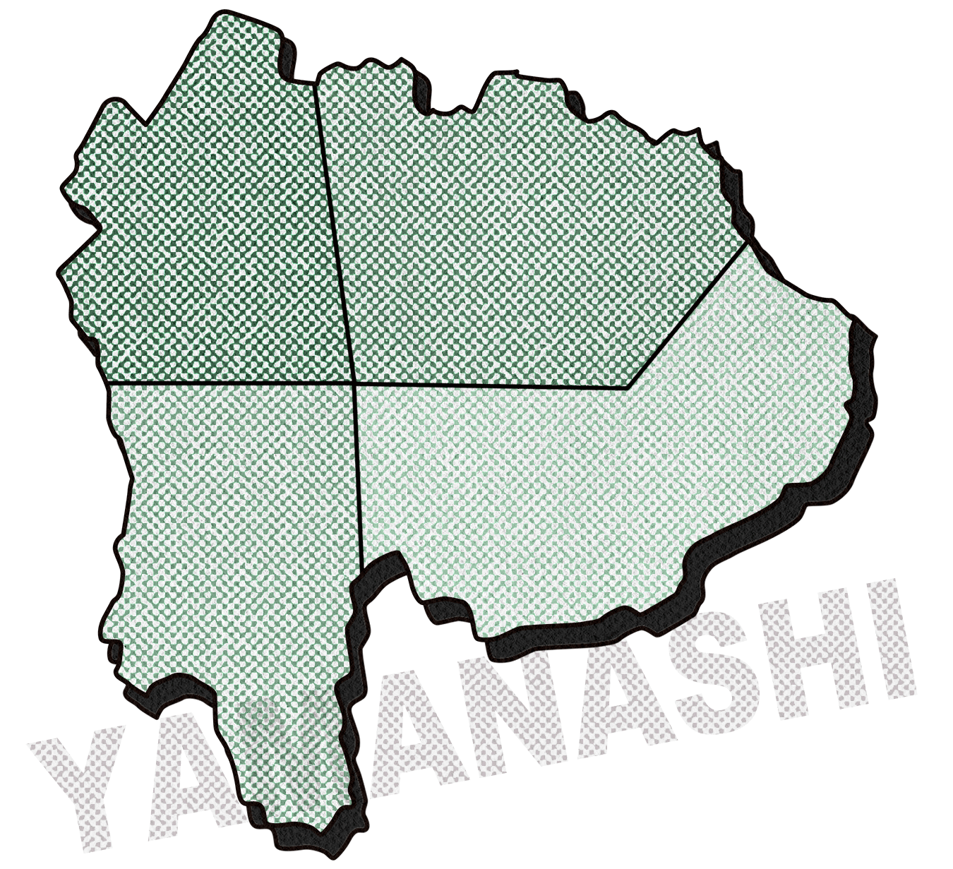 山梨県エリア地図