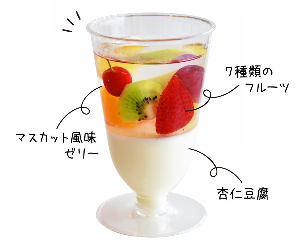 アニーズカフェのフルーツ杏仁