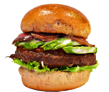 フィフティーズダイナーのハンバーガーの写真