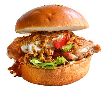 ハラペコカフェのハンバーガーの写真