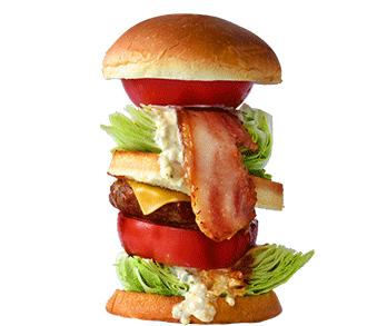 まきばレストランのハンバーガーの写真