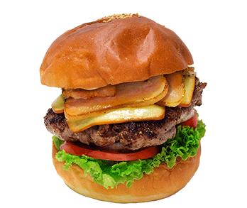 ナイスタウンバーガーのハンバーガーの写真