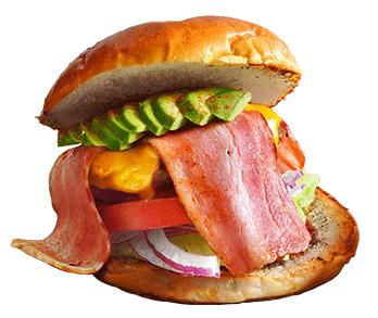 アメリカンダイナー オールドハンガーのハンバーガーの写真