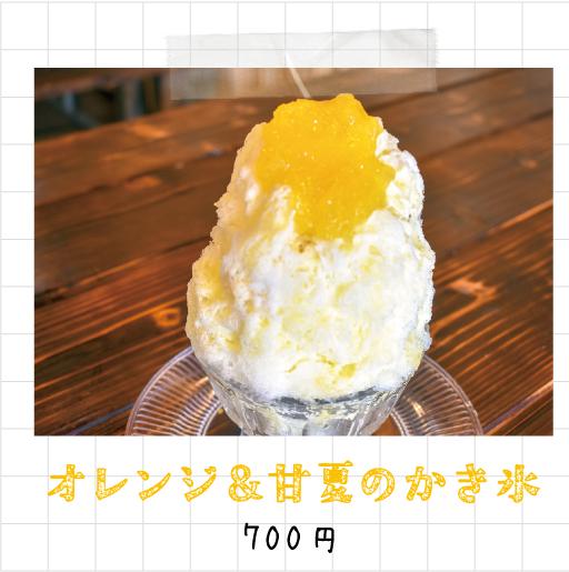 オレンジ&甘夏のかき氷 700円