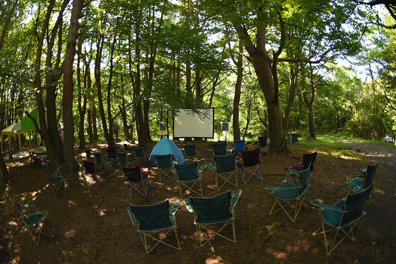 湖畔の映画祭の写真
