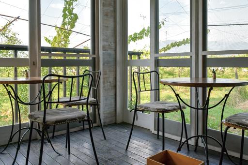 農カフェ hakariのテラス席