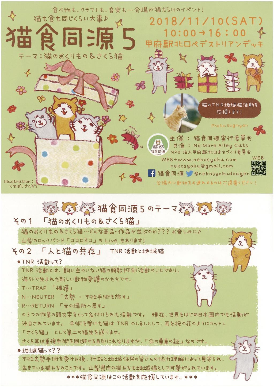 猫食同源5 甲府市 イベント 1