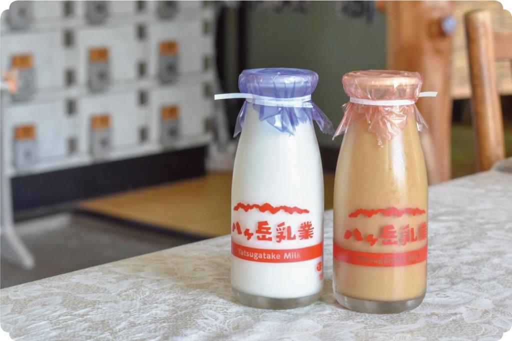 石和温泉のコーヒー牛乳&白牛乳