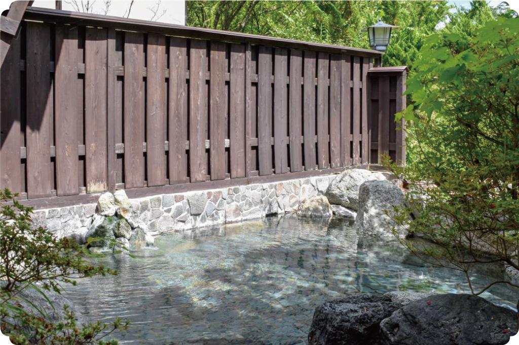桃の木温泉の露天