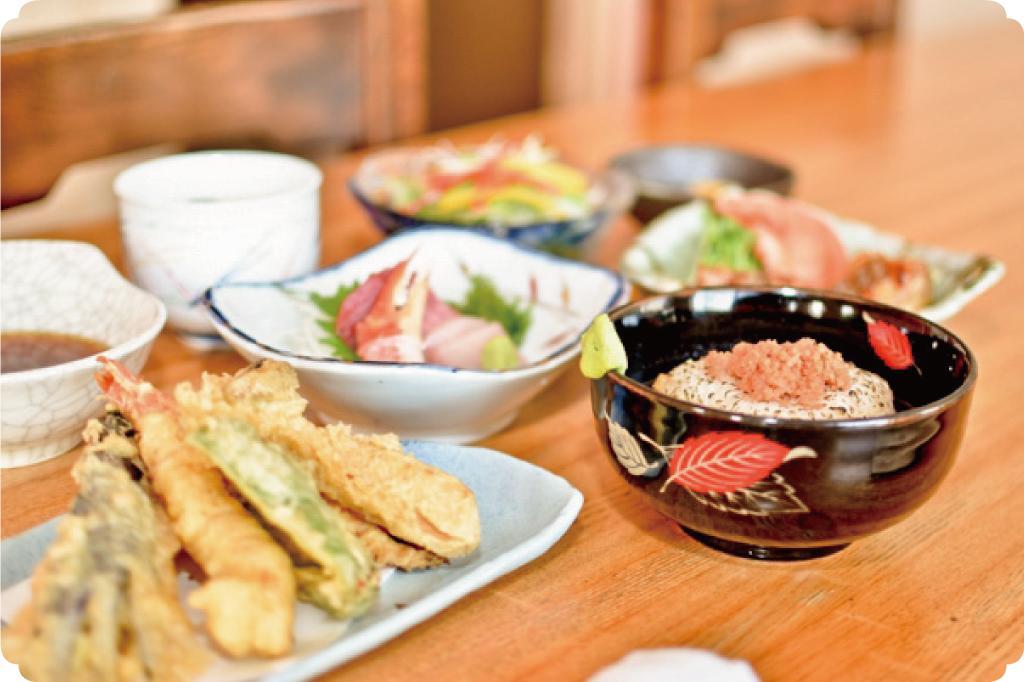 山宮温泉の宴会料理