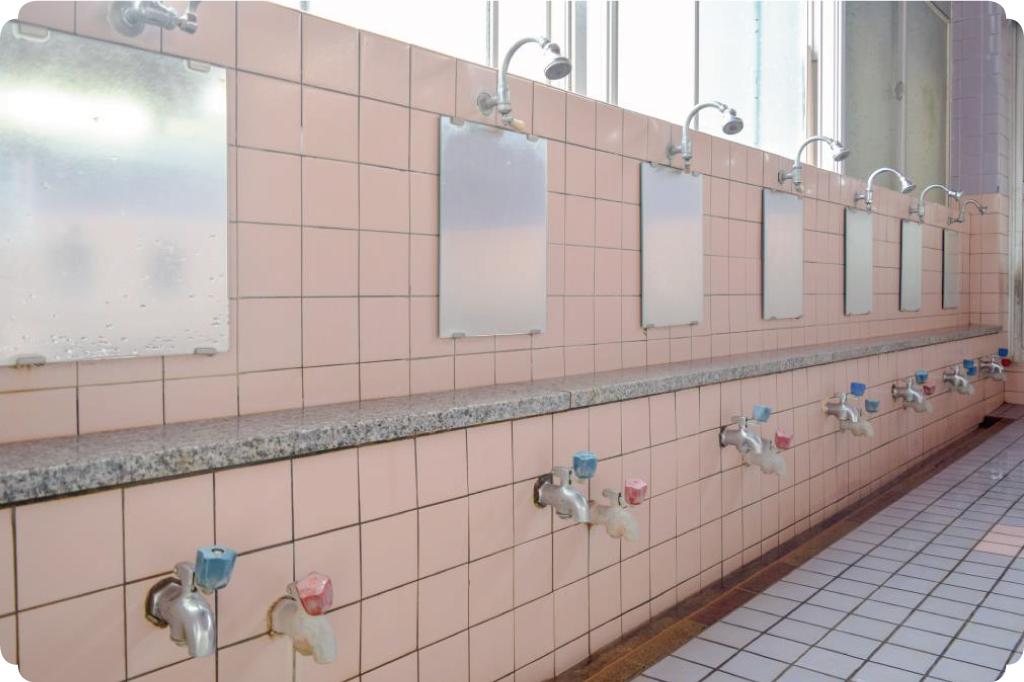 新遊亀温泉のシャワー