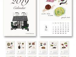 神山 奈緒子さんイラストカレンダー