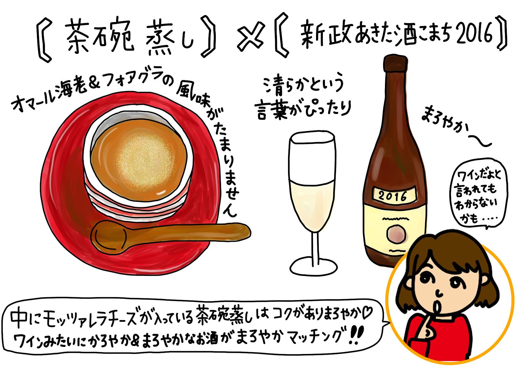 茶碗蒸し×新政 あきた酒こまち2016
