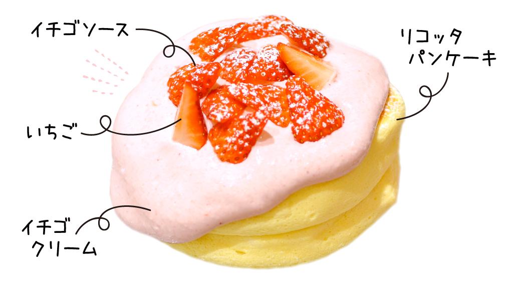 イチゴクリームパンケーキ