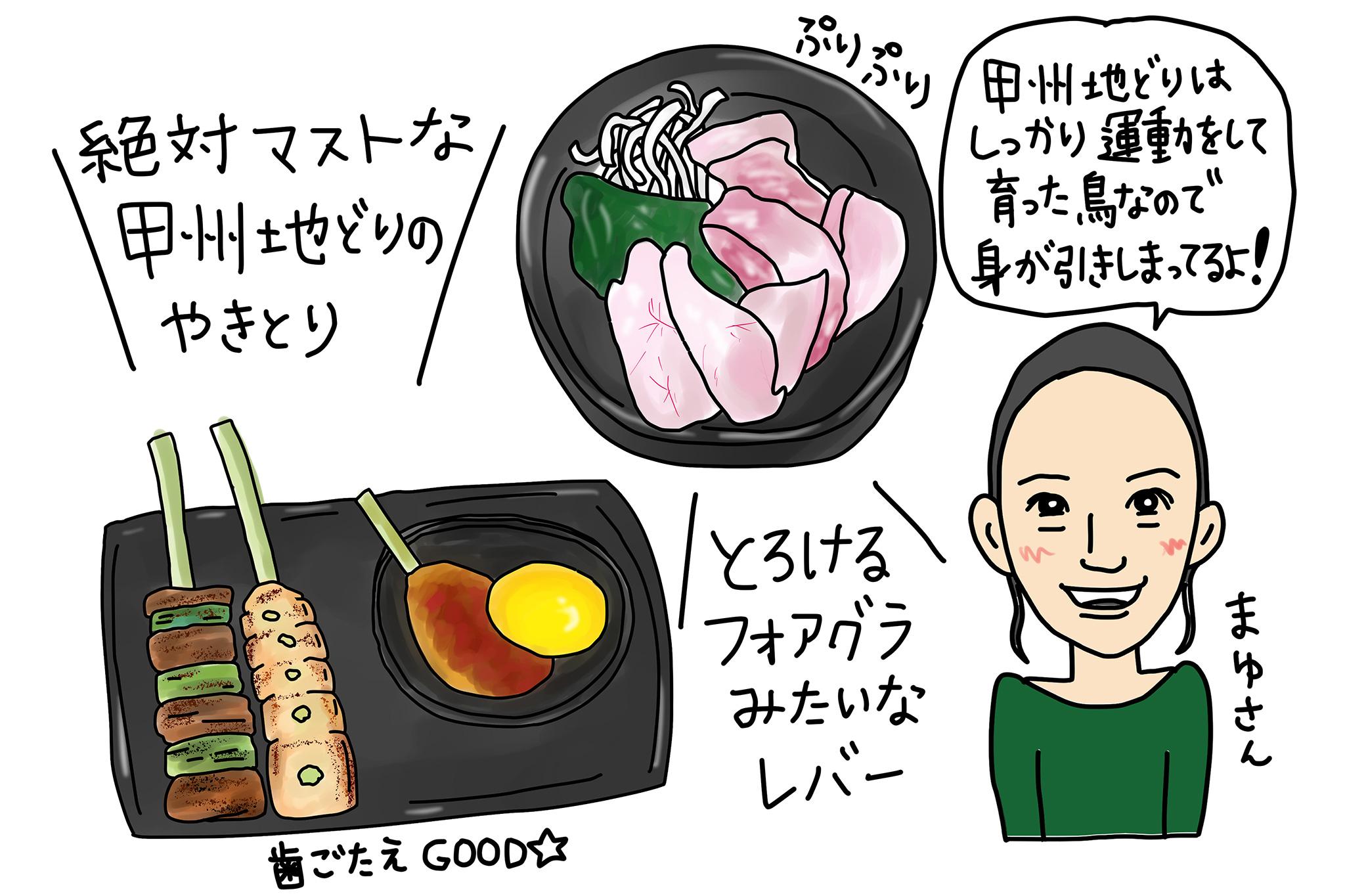 甲州地鶏の料理