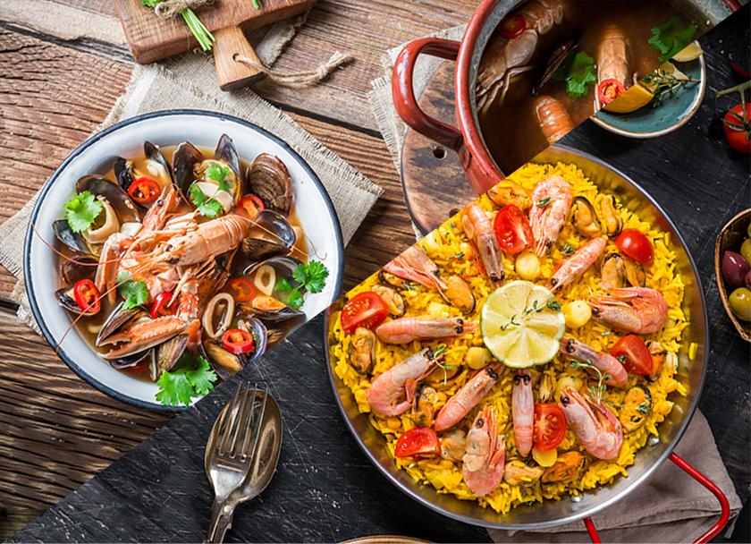 ヨーロッパ料理と世界各国料理の写真