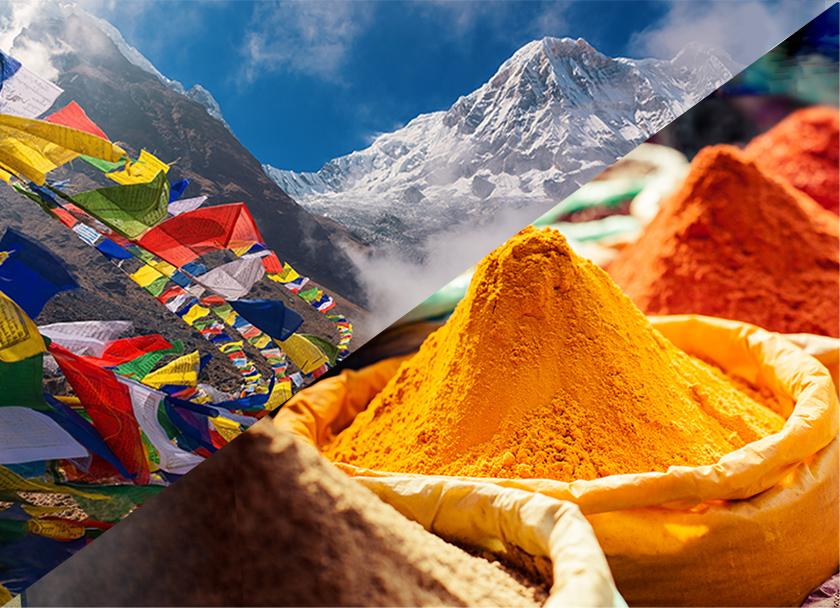 ネパールと東南アジアの風景写真