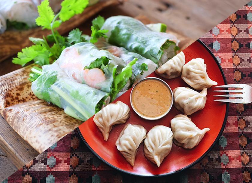 ネパール料理と東南アジア料理の写真