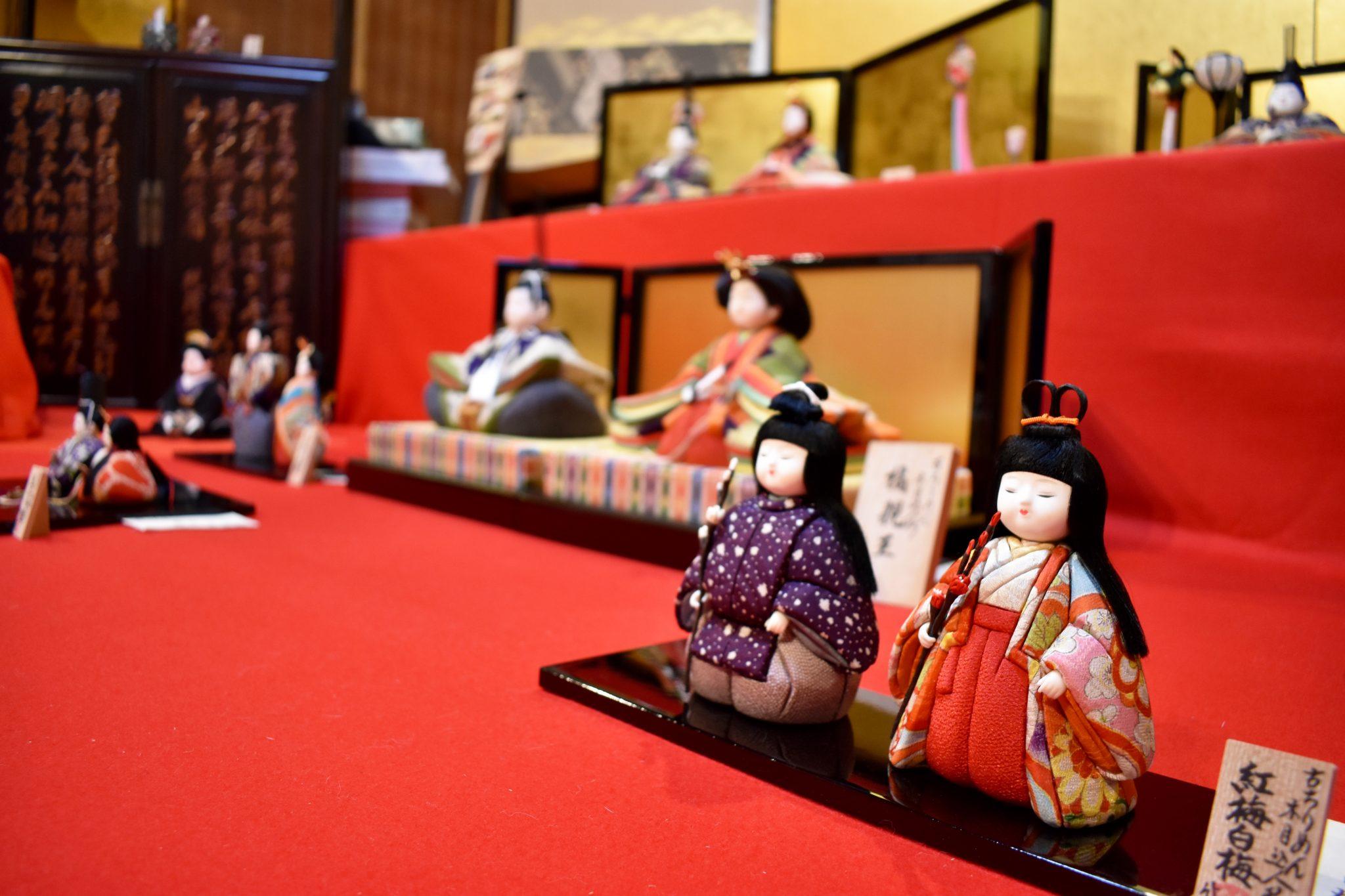 京の木目込人形展 古ちりめんで作られた逸品 都留市 美術 文化 個展 1