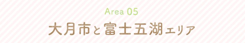 エリア5大月市と富士五湖エリア