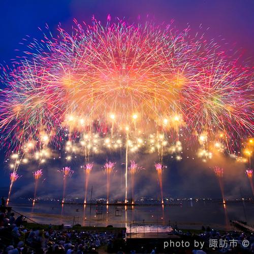 諏訪湖祭湖上花火大会【長野】