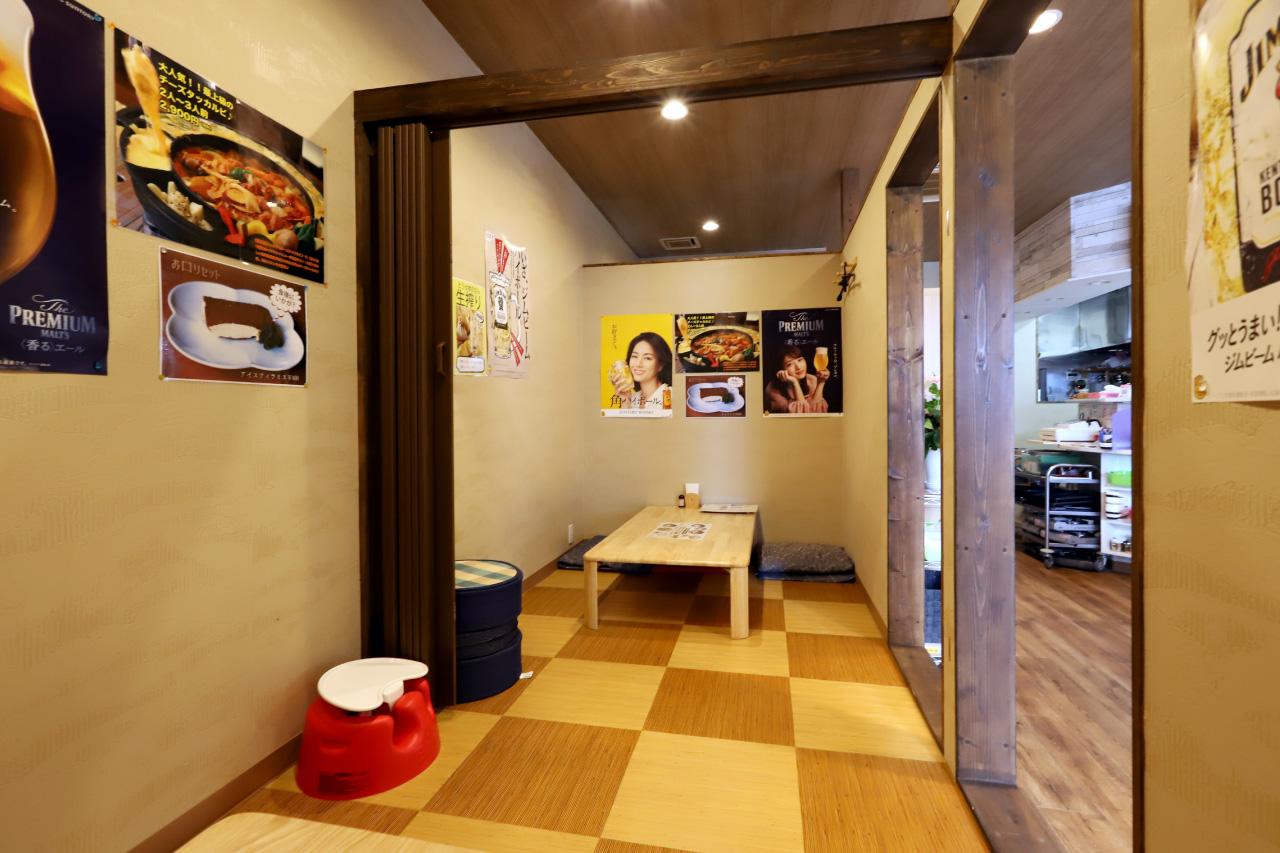 韓国料理ジャーメの店内