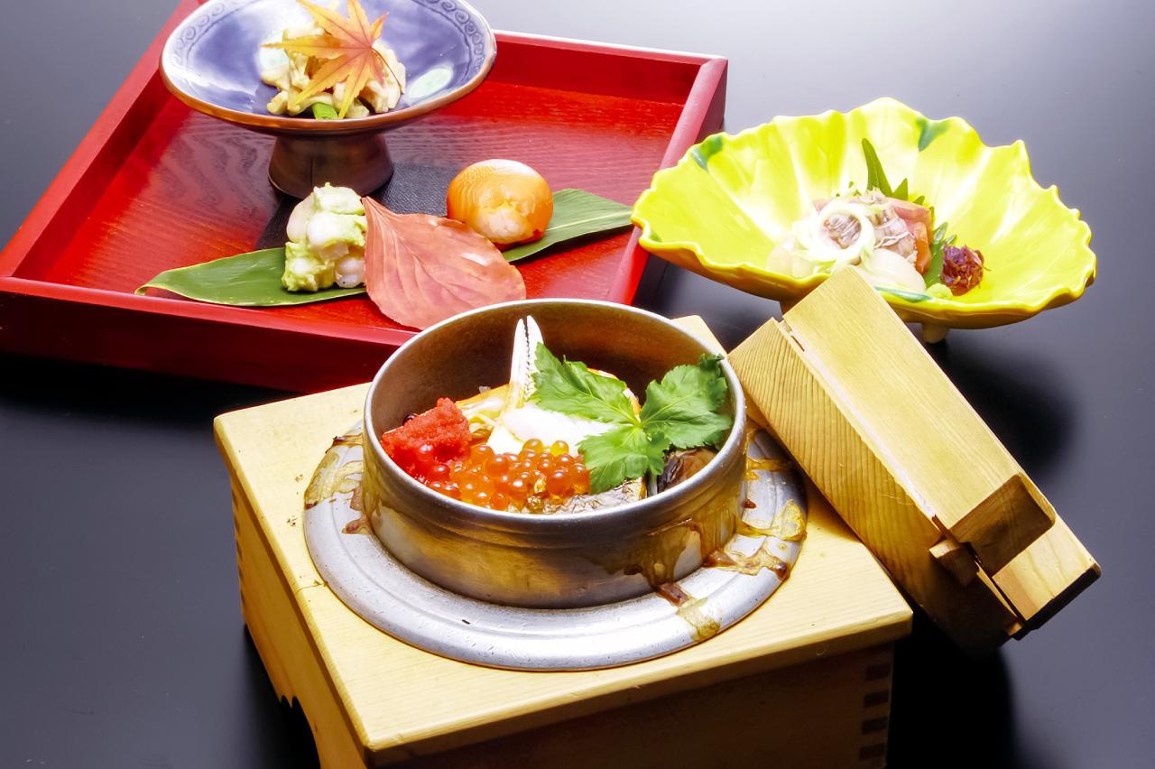 日本料理 釜めし 多ぬきの料理