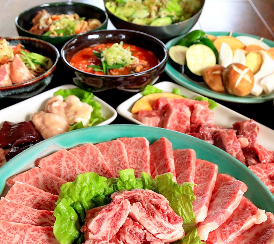 ひまわり亭の料理の写真