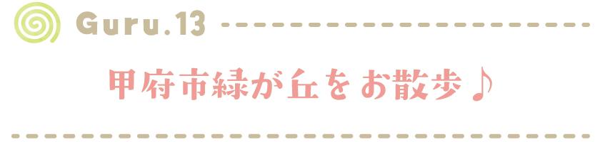 【Guru.13】甲府市緑が丘をお散歩♪