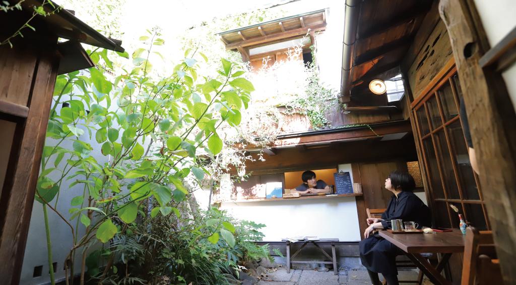 ヤマワラウの中庭