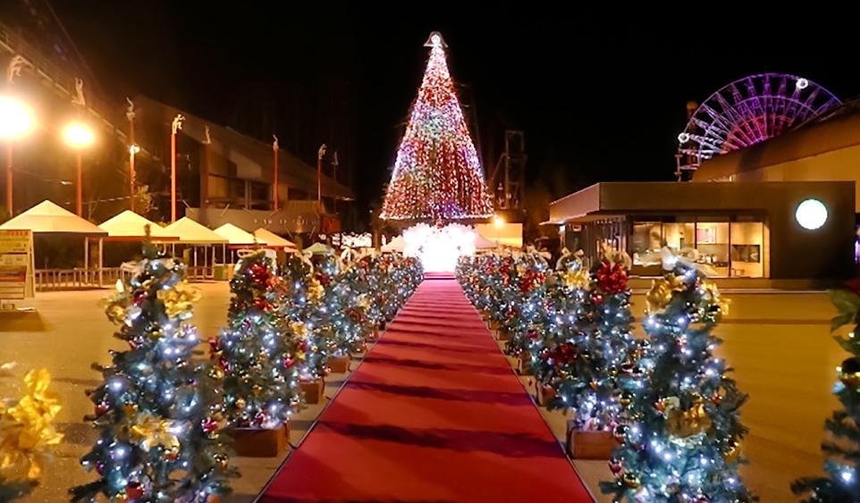 富士急ハイランドのクリスマスイルミネーションの写真