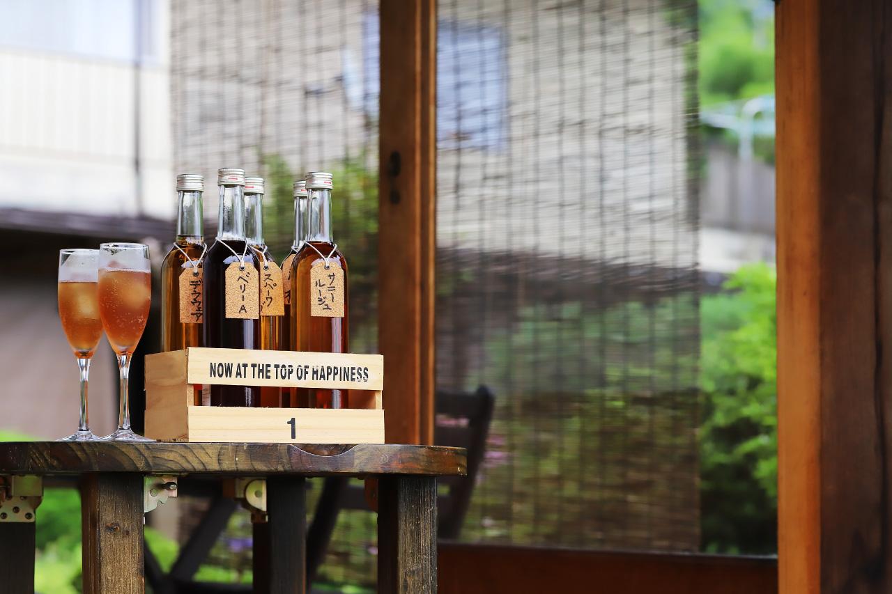 Katsunuma縁側茶房のぶどうジュース