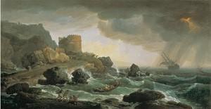 クロード=ジョゼフ・ヴェルネ 《嵐の海》