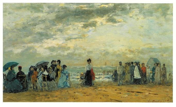 ブーダン 《浜辺にて》
