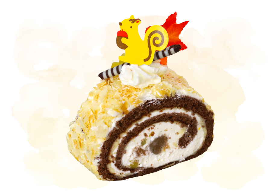 Sweets銀の糸のケーキ「マロンロール」