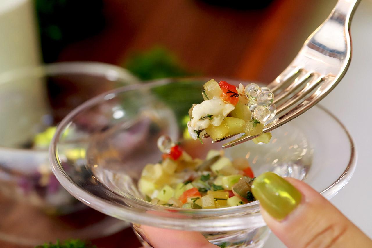 天使の海老と野菜のサルピコン