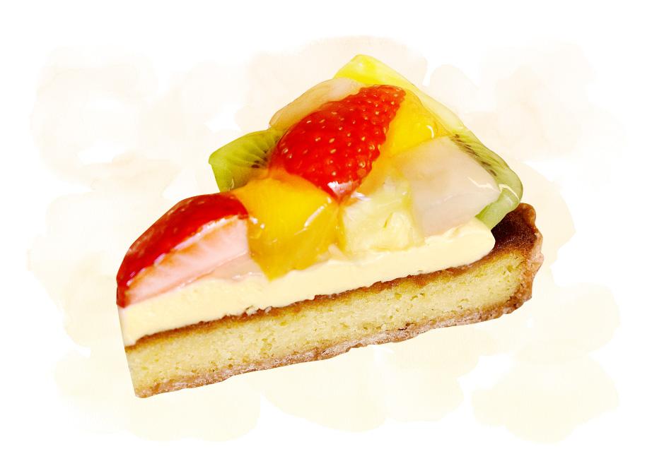 ケーキのジョージワシントン河口湖店のケーキ「フルーツタルト」