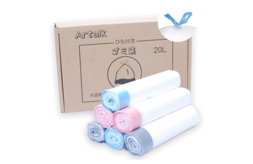 Artalk ひも付きゴミ袋 20L