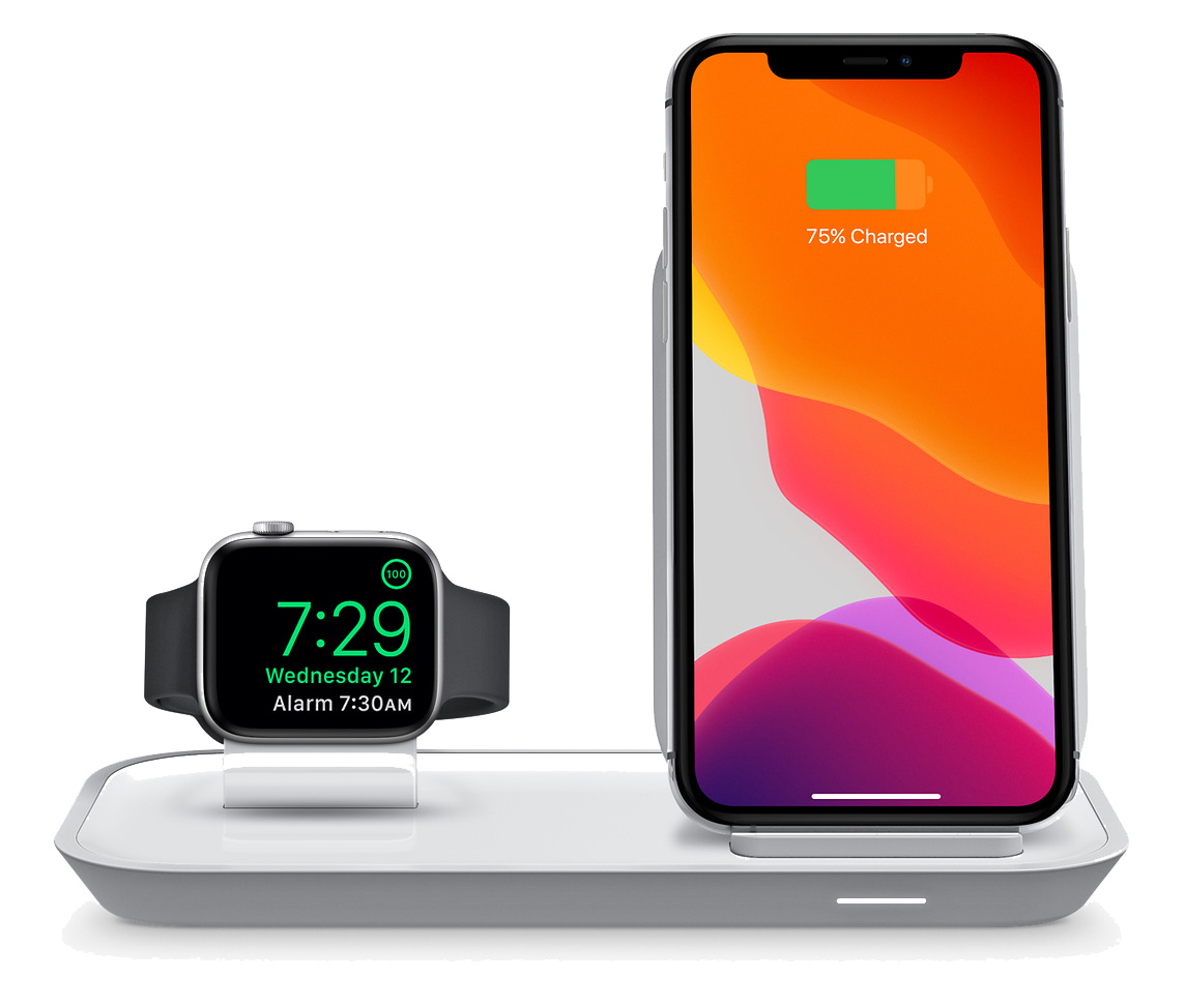 mophie 2-in-1 wireless charging stand