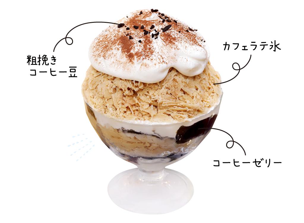 アシェット デセール セレス セレスカフェ特製カフェラテ氷