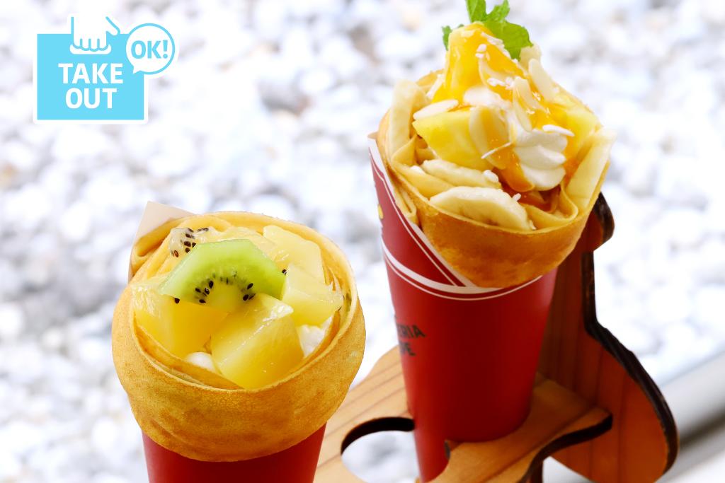 マテリアクレープ キウイレアチーズ(左)/トロピカルバナナ(右)