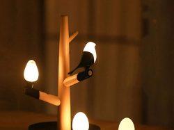 カササギ鳥USB充電器常夜灯