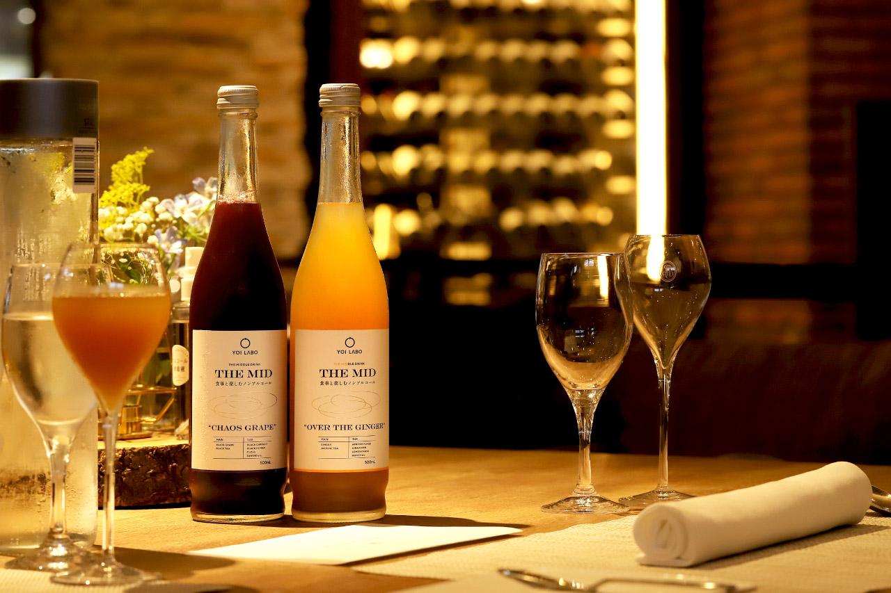 レストラン ラクールのノンアルコールワイン「THE MID」2
